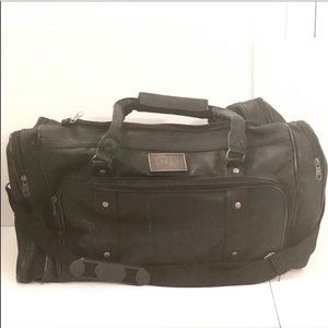 Accent Int Leatherette Crossbody Duffle Travel Bag